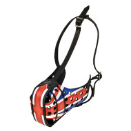 Dog Training Muzzle with Flag of Great Britain⚏