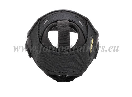 Time-proof Nylon Muzzle with Leather Inserts for Dogs