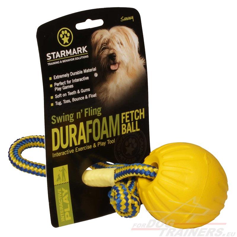 ballon interactif pour chien balle avec corde pour chien. Black Bedroom Furniture Sets. Home Design Ideas