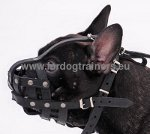 Leather Muzzle Basket Type for French Bulldog
