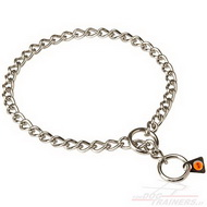 Choke Dog Collar of Chromed Steel | Chain Collar Herm Sprenger