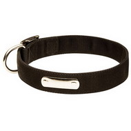 Dog Collar Nylon with ID Tag