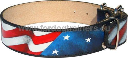 collier pour chien drapeau americain