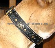 Bullmastiff Braided Handmade Leather Dog Collar ◒