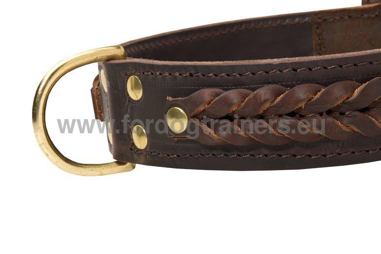collier tress pour bullmastiff collier cuir r sistant c55 1057 collare in pelle naturale. Black Bedroom Furniture Sets. Home Design Ideas