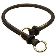 Round Leather Choke Collar