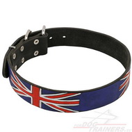 Leather Collar for Dog with UK Paint | Leather Collar TOP☛