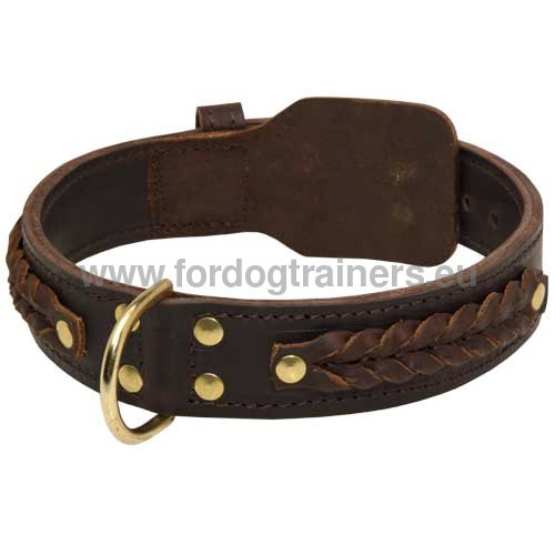 Braided Collar for Strong Dogs