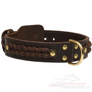 Braided Dog Collar | Decorated Collar with Braids ⇝