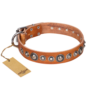 "Exclusive Leather Collar ""Daily Chic"" FDT Artisan"