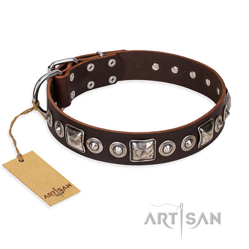 Artisan Leather Dog Collar Super Durable