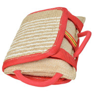 Bite Pillow Jute Bright Summer Colors