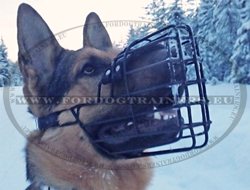 Strong Metal Dog Muzzle for German Shepherd