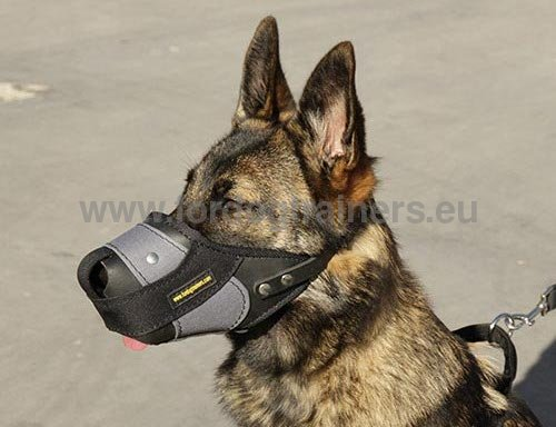 Service Dog Nylon Leather Muzzle