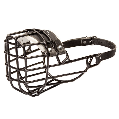 Wire Dog Muzzle Covered with Black Rubber