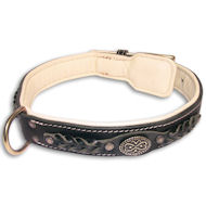Labrador Nappa Padded Handmade Leather Dog Collar