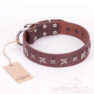 """Stellar Fairy"" FDT Artisan Brown Handmade Collar"