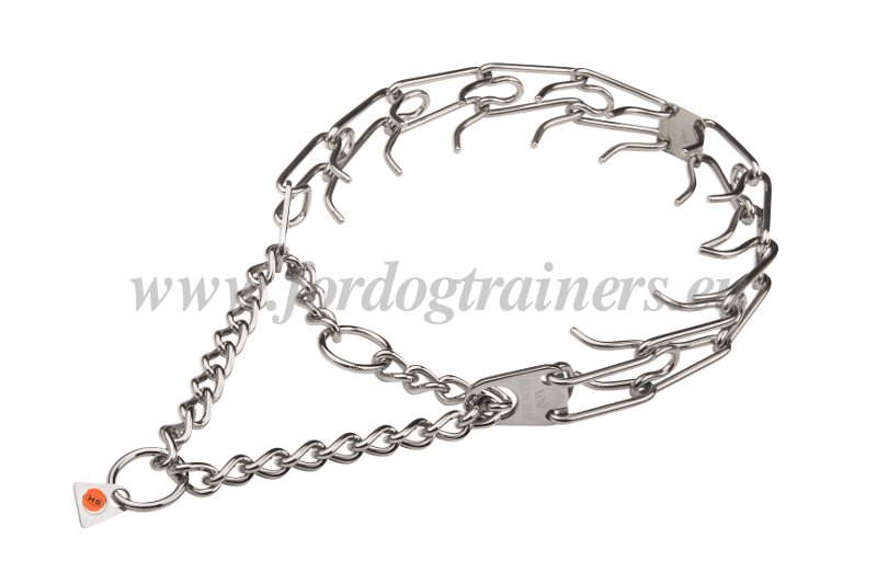 prong collar in stainless steel for dogs  hs24 1057 50004  55   3 25  collare con le punte di