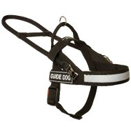 Black Nylon Guide Dog Harness for Assistance Dogs ◩