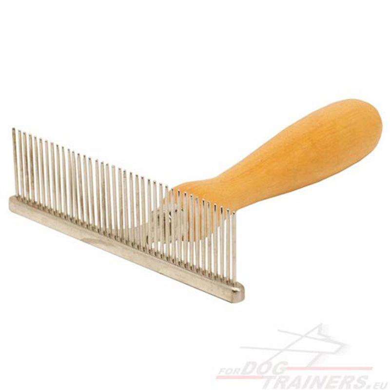 Metallkamm mit einem Holzgriff für Ihren Liebling [KA15#1057 Pettine ...