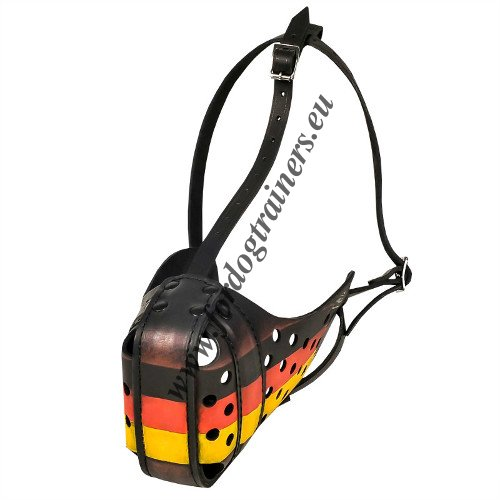Agitation Dog Muzzle with German Flag