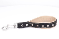 "Short Dog Leash Padded Loop ""Extra Chic"" ⒧"