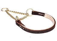 Wearproof Leather Martingale Collar