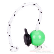 Dog Training Ball Green Mini with Multi Power Clip
