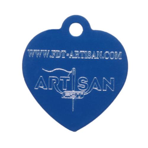 Medaglietta di alluminio blu per collare