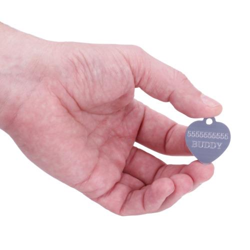 Medaglietta argentata con nome del cane