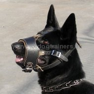 Smooth Leather Dog Muzzle for German Shepherd