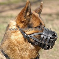 German Shepherd Leather Basket Muzzle ℬℳ