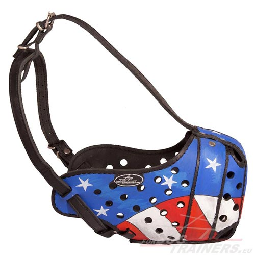 Working Dog Muzzle with USA Flag