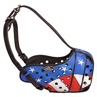 Agitation Dog Muzzle with American Flag