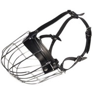 Dogs with Short Snout Wire Muzzle | Muzzle for Boxer &#9704