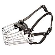 Wire Basket Dog Muzzle for Shepherds and Doberman ⟱