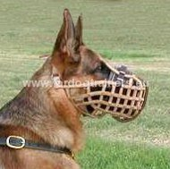 German Shepherd Attack&Agitation Basket Muzzle❂