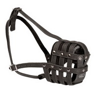 Basket leather muzzle for all kinds of dogs