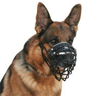 Wire muzzle covered with leather