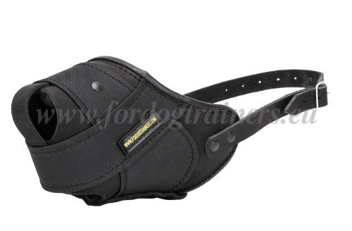 Waterproof Leather&Nylon Dog Muzzle