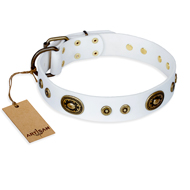 "White Handmade Collar ""Magnetic Appeal"" for Dogs"