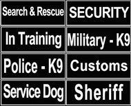 Patches for Dog Identification, Velcro Logos for Service Dogs