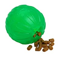 Dog Ball with Kibble and Treats New