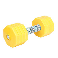 Dog Training Dumbbell with Yellow Plates