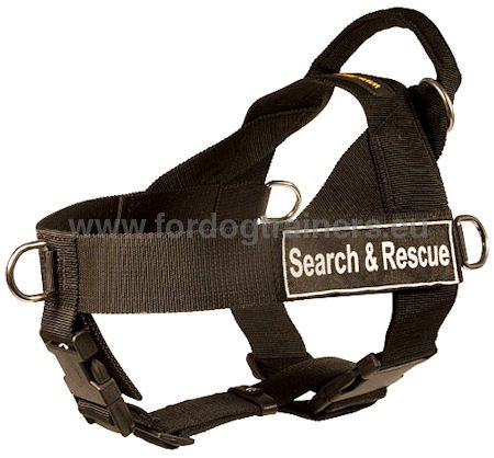 Nylon Dog Harness for Working Dog