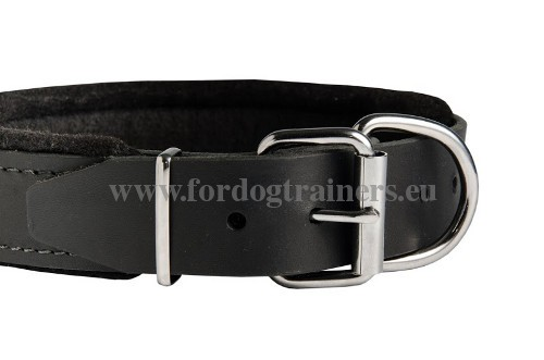 Laika Leather Wide Collar